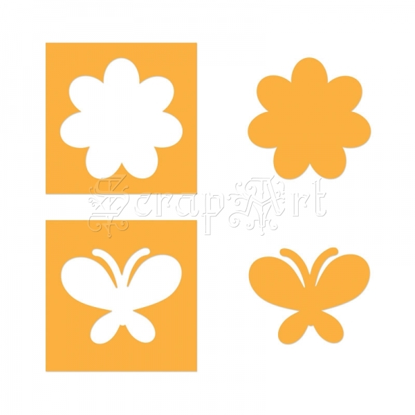 657584 Movers & Shapers Magnetic Die Set 2PK - Flower & Butterfly Set