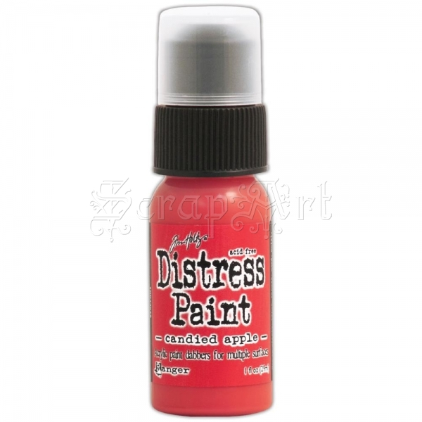 akrylová barva - December-Candied Apple Distress Paint 1oz Bottle Tim Holtz - Ranger