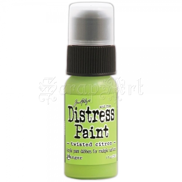 akrylová barva - May-Twisted Citron Distress Paint 1oz Bottle Tim Holtz - Ranger