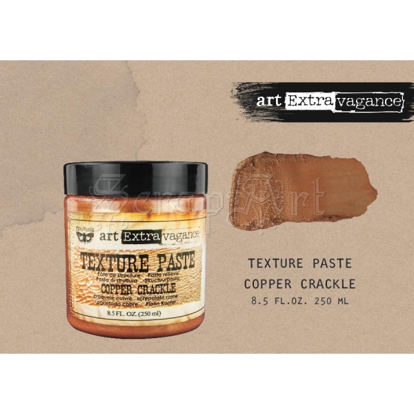 Art Extravagance Texture Paste - Cooper Crackle 8,5oz - Finnabair by Prima Marketing Inc.