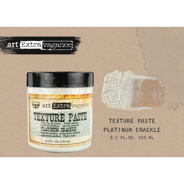 Art Extravagance Texture Paste - Platinum Crackle 8,5oz - Finnabair by Prima Marketing Inc.