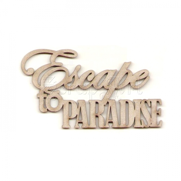 chipboard - Escape to Paradise WOW2235 WOW