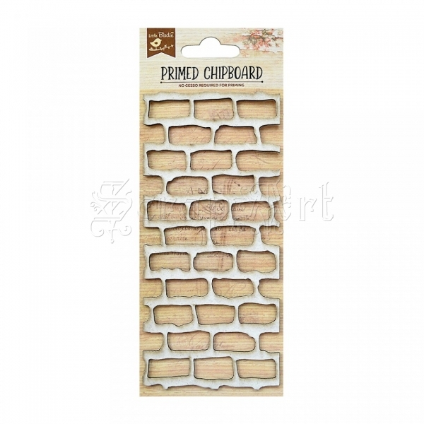 chipboard - Primed Chipboard - Brick Wall Little Birdie