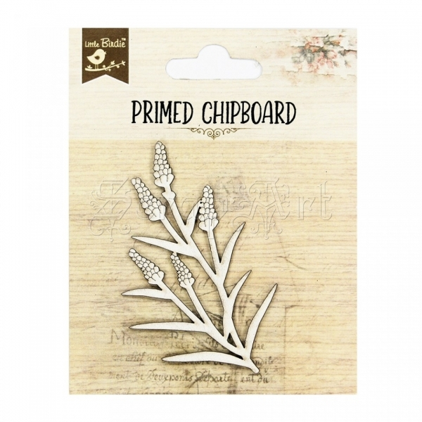 chipboard - Primed Chipboard - Floral Glow Little Birdie