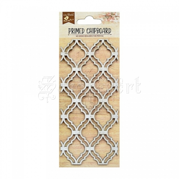 chipboard - Primed Chipboard - Lattice Design Little Birdie