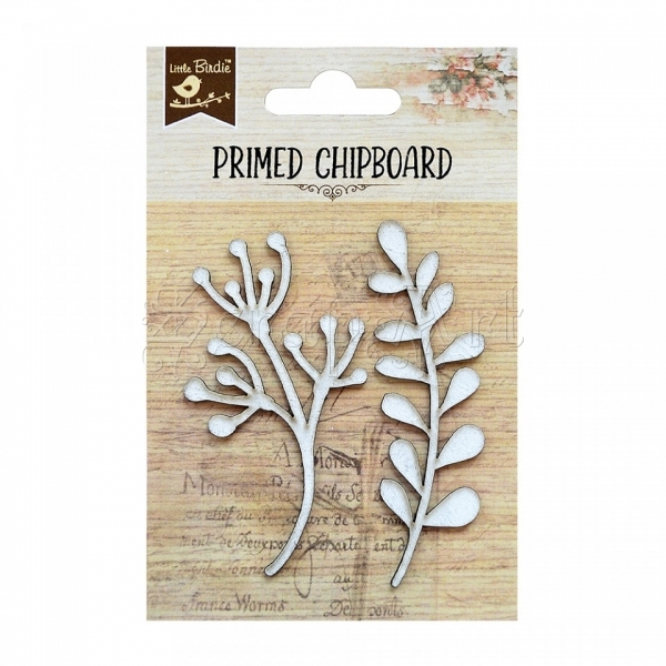 chipboard - Primed Chipboard 2pcs - Botanical Little Birdie