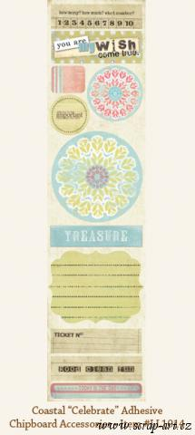 Coastal - Celebrate - Adhesive Chipboard Accessories   - Laundry line - AKCE!