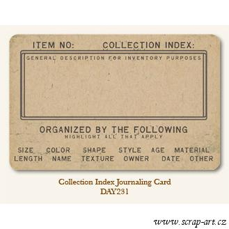 Collection Index  - Journaling Card