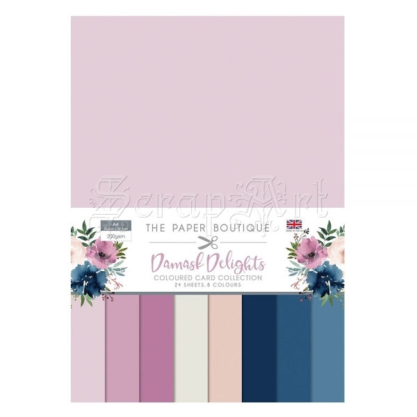 čtvrtky - Coloured Card Damask Delights