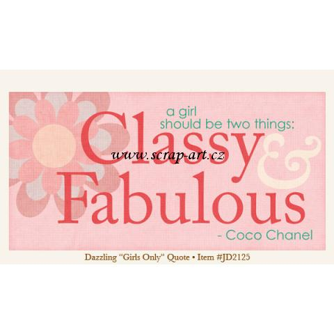 Dazzling - Girls Only - Quote - Just Dreamy 2