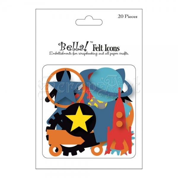 Boy Icons Felt Embellishments