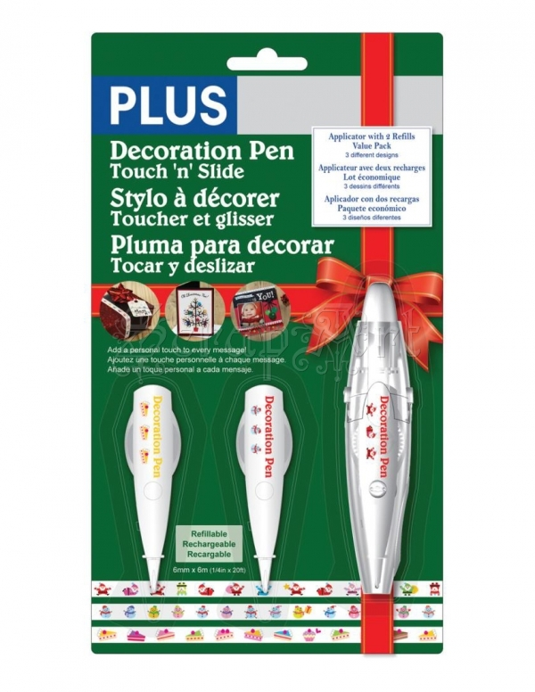 Dekorační pásky - Santa, Cake and Snowman Holiday Decoration Pen Set Plus