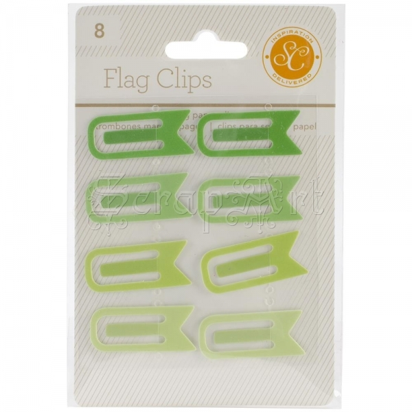 Flag Clips Green - Studio Calico