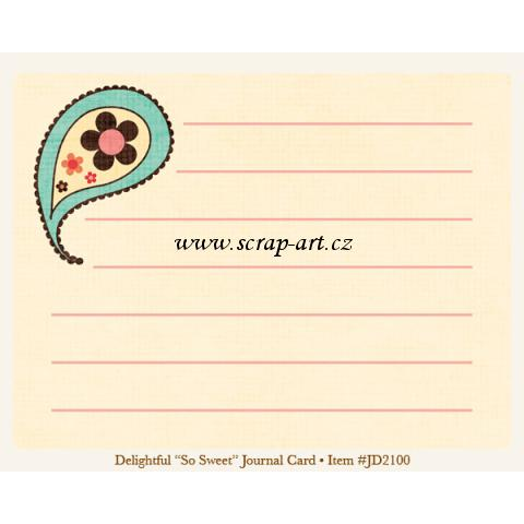 Delightful - So Sweet - Journal Card - Just Dreamy 2
