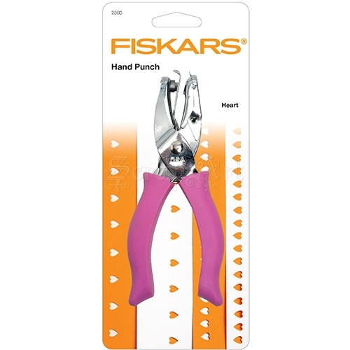 Hand Punch Large 1/4 Inch Heart Fiskars