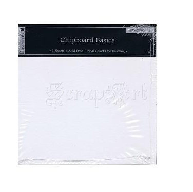 desky z kartonu - Chipboard Basics 6 x 6 White - 2 Sheets