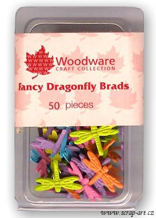Dragonfly Fancy Brads - Woodware Craft Collection
