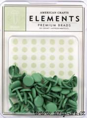 Elements Medium Brads - Shamrock