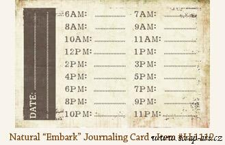Natural - Embark - Journaling Card - Laundry Line
