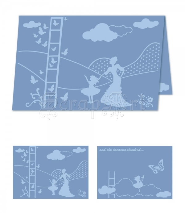 embossovací kapsa - eBosser Embossing Folders A4 Size Dare To Dream - Craftwell