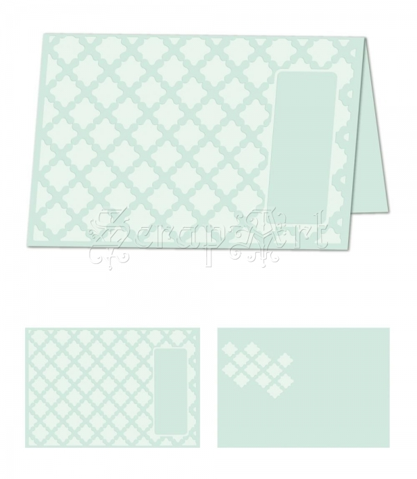 embossovací kapsa - eBosser Embossing Folders Letter Size Gracious Argyle - Craftwell