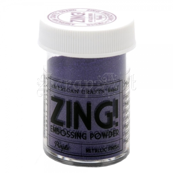 embossovací prášek - Zing! Embossing Powder Metallic Purple American Craft