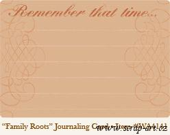 Family Roots Journaling Card - Wild Asparagus 4