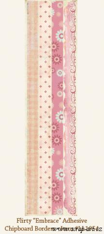 Flirty - Embrace - Adhesive Chipboard Borders - Laundry Line