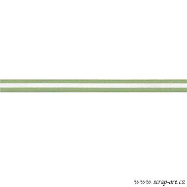 "Green Stripe  3/ 8""  - Bazzill Basic Paper"