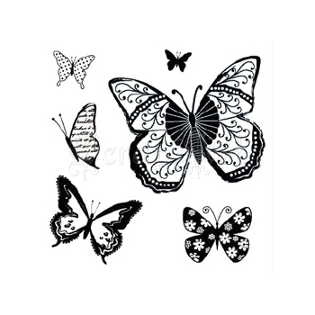 Butterflies Cling Stamps - Hampton Art