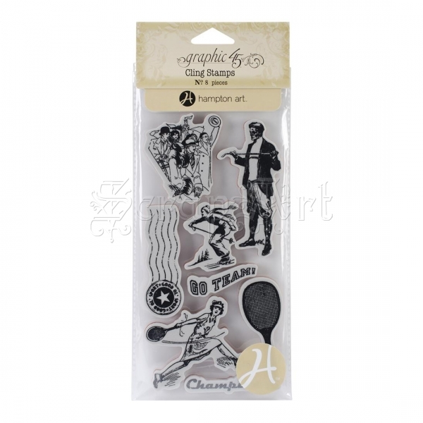 gumová razítka - Good Ol´ Sport #3 Cling Stamps - Graphic 45