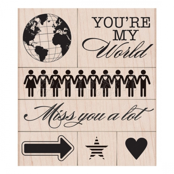 gumová razítka - Mounted Rubber Stamps You´re My World Hero Arts