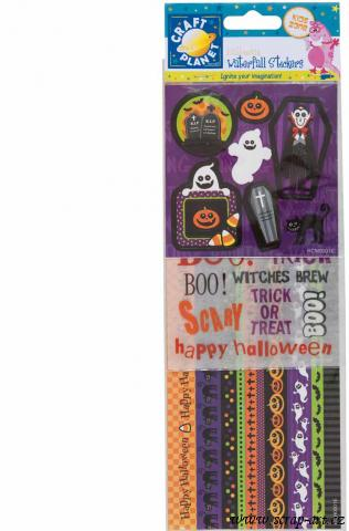 samolepky - Stickers Halloween Waterfall - Vampires and Coffins
