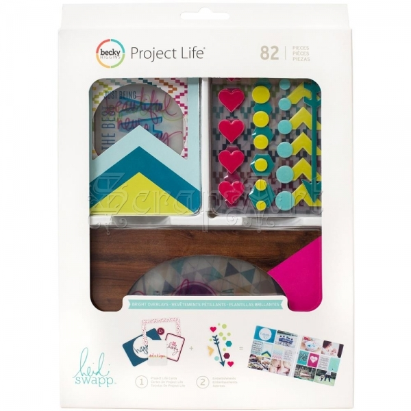 kartičky a dekorace - Bright Overlays Value Kit Project Life Becky Higgins