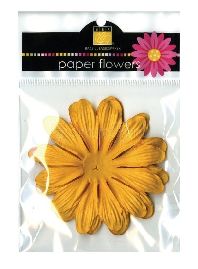 "Flowers Gerbera 4"" Candle - Bazzill Basic Paper"