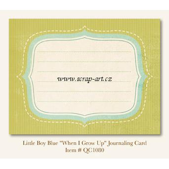 Little Boy Blue - When I Grow Up -  Journaling Card