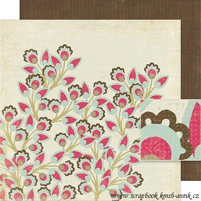 scrapbooková čtvrtka - Cherry Blossom - Mia Collection Crate Paper