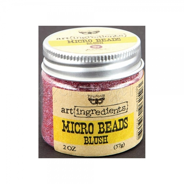 mikro korálky - Art Ingredients Micro Beads Blush - Finnabair by Prima Marketing Inc.