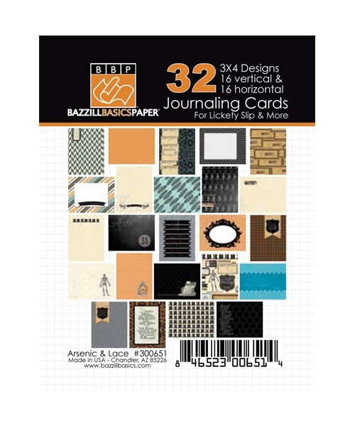 "Arsenic and Lace 3x4"" Journaling Cards - Bazzill Basic Paper"