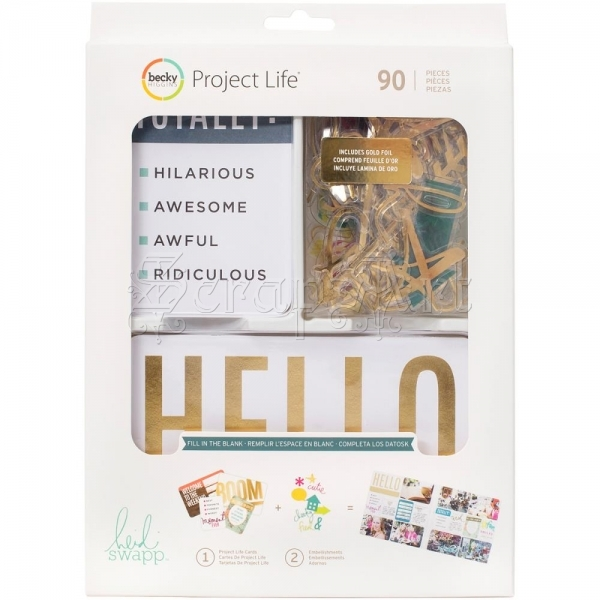 papírové kartičky - Fill in the Blank Value Kit Project Life Becky Higgins
