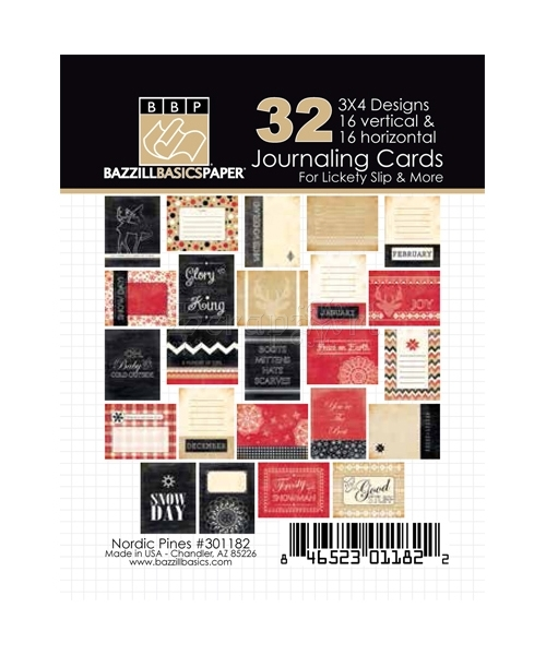 "Nordic Pines 3x4"" Journaling Cards - Bazzill Basic Paper"