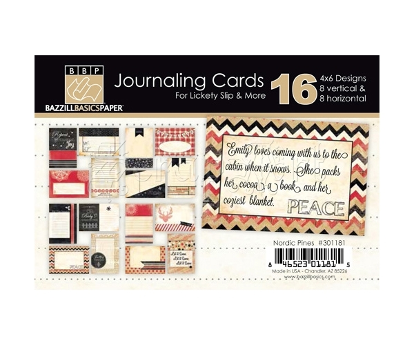 Nordic Pines Journaling Cards 4 x 6 - Bazzill Basic Paper