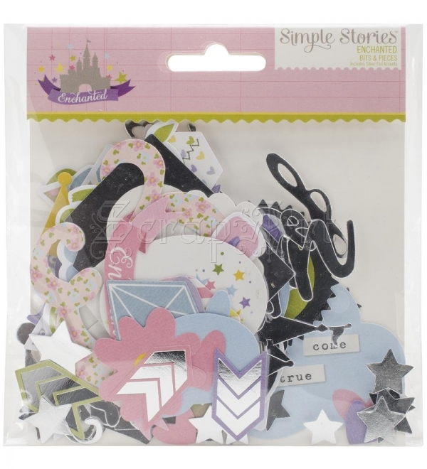 Enchanted Bits and Pieces Die-Cuts With Silver Accents