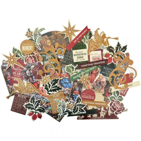papírové dekorace - Holy Night Collectables Cardstock Die-Cuts KaiserCraft
