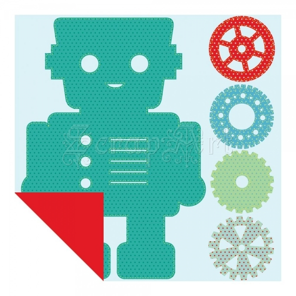 Robot Spot Varnish Die-Cut Cardstock