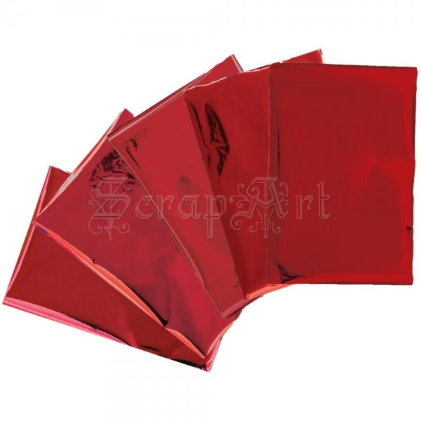 "transferová fólie reaktivní fólie - Red Heatwave Foil Sheets 4x6"" 30/Pkg We-R-Memory Keepers"