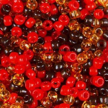 Rocailles mix Brown red gold-yell. 10-0 2,2 mm