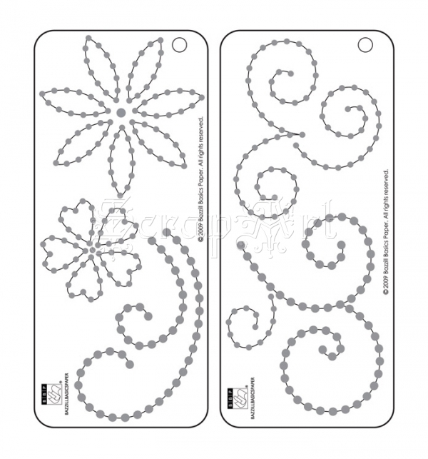 Jewel Templates Flowers and Flourishes - Bazzill Basic Paper