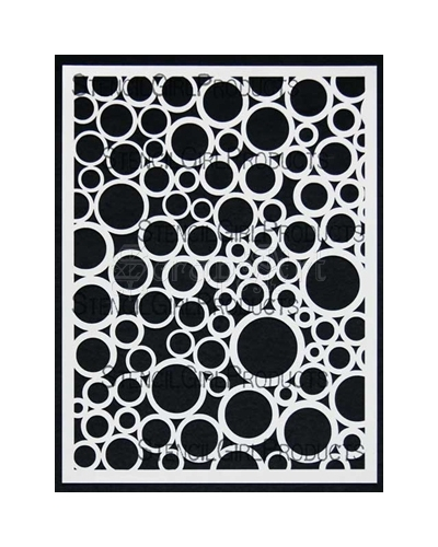 Random Circles Stencil by Mary Beth Shaw - StencilGirl Products
