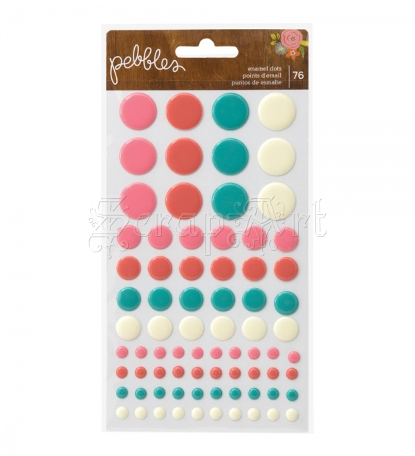 samolepící dekorace - Happy Day Epoxy Stickers Dots American Craft